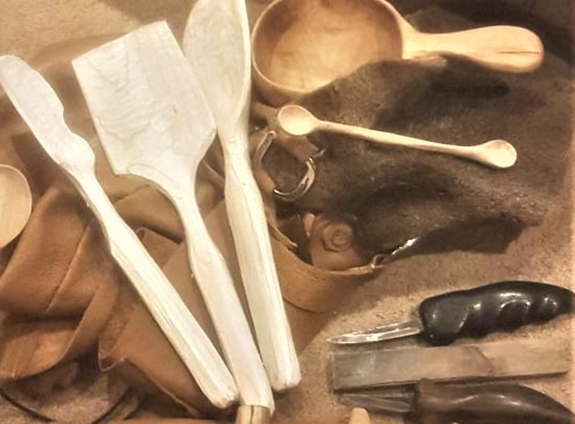 Carved spoons